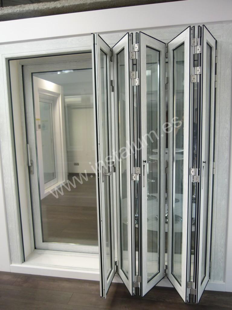 Puertas plegables aluminio beautiful puertas plegables - Puertas plegables de aluminio ...