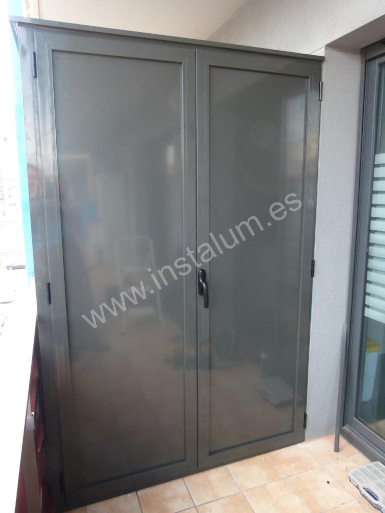 Armario terraza carpinteria de aluminio instalum d m Armario pvc exterior