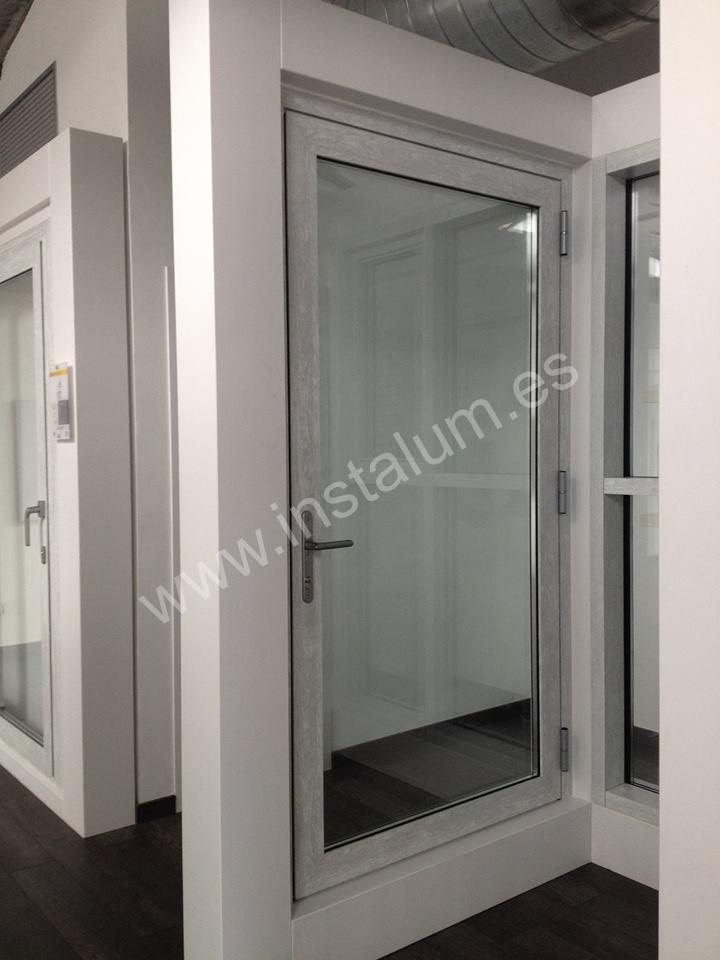 Puertas practicables y plegables carpinteria de aluminio instalum d m - Puertas plegables aluminio ...