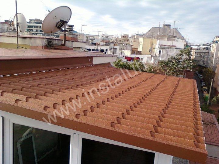 cerramiento terraza techo teja